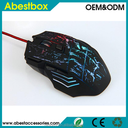 LED Lighting DPI 3D 7 Buttons Computer Notebook Gaming USB Wire Game Mouse