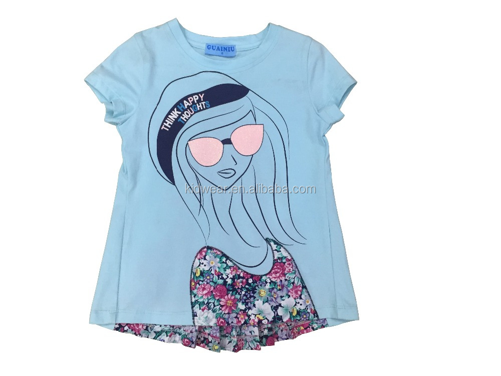 beautiful girls printed t-shirts for summer