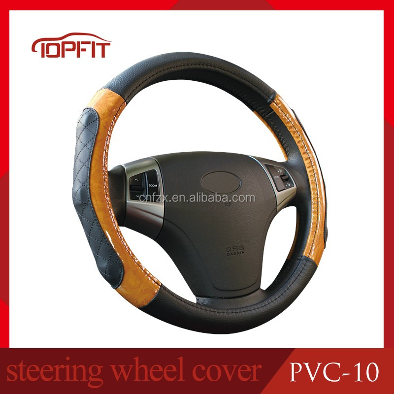Size Can Be Customized Leather Steering Wheel Cover/Summer Car Steering Wheel