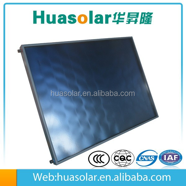 High Efficient flat panel solar collector with solar keymark,srcc,blue tinox solar collector