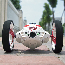 Wifi Phone APP Wireless Remote Control Jumping Car LED Lights 88S 2.4G 6CH RC Bounce Car with HD Camera for sale