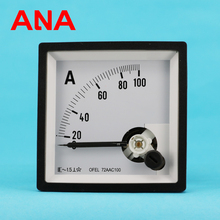 Square panel meter Analog display DC Ammeter 96*96mm panel galvanometer Moving ocil type