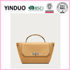 Guangzhou promotional blank carry tote hand bags brand name university girls shopper real leather bags with logos custom online