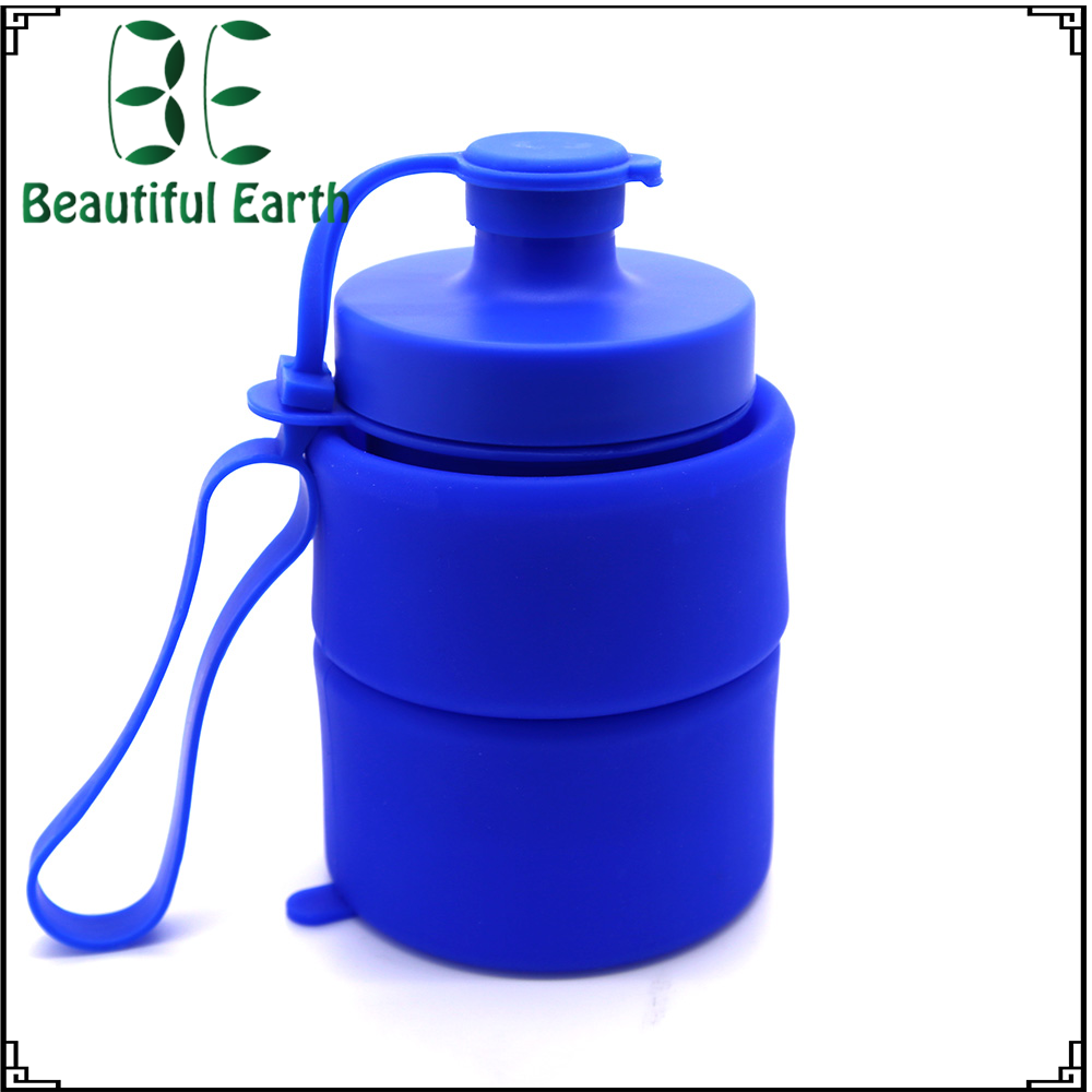 Sports Camping Canteen Silicone Kettle Sports Silicone Folding Collapsible Sports Kettle