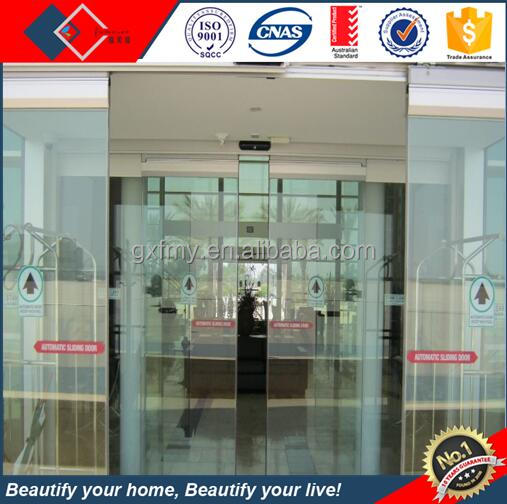 China factory large sliding glass doors,exterior big glass aluminium auto sliding doors