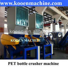 Waste used plastic bottle film grocery bags crusher crushing machine plant
