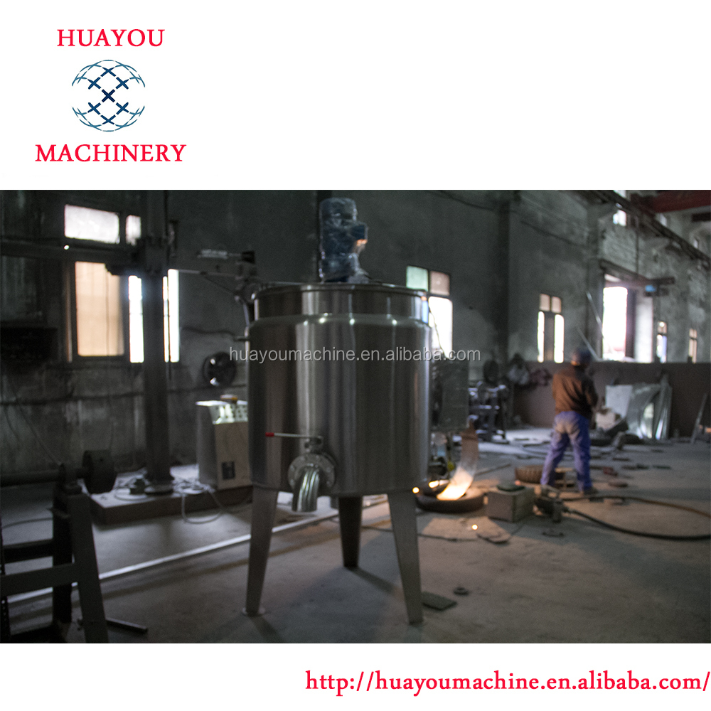 stainless steel Hot Water Jacketed mixing tank