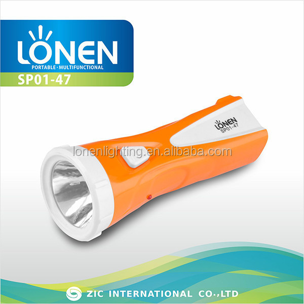 LONEN wholesale 5 LED electric charge batteries operated rechargeable torch light