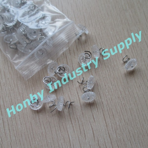 New style clear plastic head upholstery thumb tacks