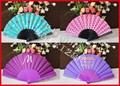 Customized plastic cloth fan with your logo printing