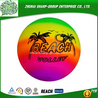 2015 Inflatable rainbow PVC ball For Beach Playing