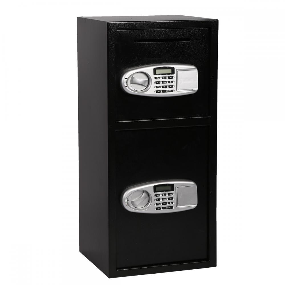 Durable Double Door Cash Office Electronic Security Lock Digital Key Safe Box