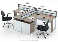 Wooden design modular standard size cubicle office partition