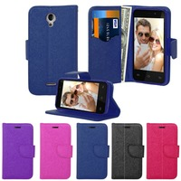 Luxury flip 360 card holder multiple use PU leather case mobile phone cover for Sky 4.0D