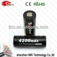 Soshine Battery 18650 lithium lion Battery 4200mAh 3.7V Rechargeable Li-ion Battery for the e-cig mod