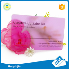 High Quality Pvc Wholesale Clear Transparent Plastic Business Vip Card