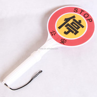 traffic safety plastic hand held LED stop sign 455*198*48mm