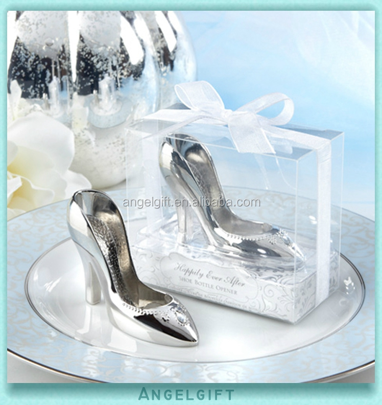 Wholesale Yiwu Angel <strong>Gifts</strong> Wedding <strong>Gifts</strong> Love A Perfect Fit Chrome Slipper Cinderalla Shoe Bottle Opener