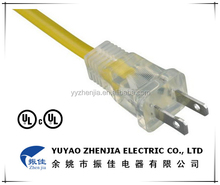 UL 2 PIN Household Appliance Electrical Power Extension Cord