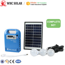 Home Camping Lighting Solar Energy Wind Generator Kit With Bulbs