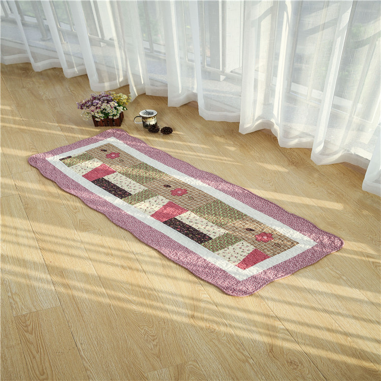 Door entrance printed custom floor mat 100% cotton