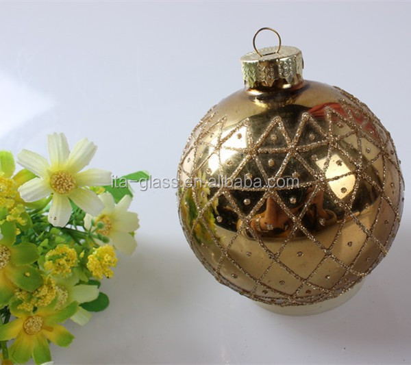 Favorites Compare Alumimium Cap Cheap Christmas Stained Ball Glass Ornament