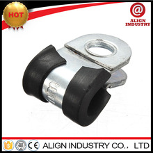 rubber lined hose clamp 13mm bonded steel fixing hose clamps automobiles & motorcycles fixing clamp