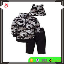 Baby Boys' 3 Piece Fleece Top and pants cute baby boy sets 3 pieces suit