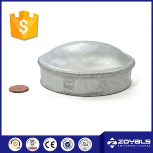 Welded Galvanized Steel Fence Round Metal Post Cap