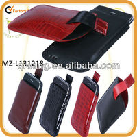 luxurious croco embossed leather PDA case for iphone 5