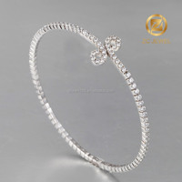 AAA zircon stones 925 silver jewelry bangle for women