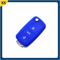 Silicon car key protective covers vw maker