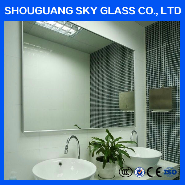 2mm 2.5mm 3mm 4mm 5mm 6mm float glass decorative aluminum wall mirror, mirror square meter price