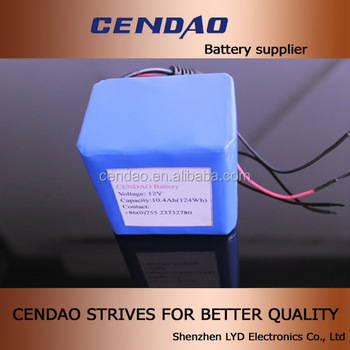 2014 12v lithium battery pack with PCB protection 11.1v 3s4p configuration 12v rechargeable battery pack 100wh