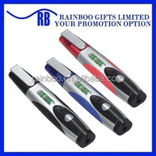 Hot selling Mini pocket tool pen kit With Led Light and gradienter for promotion