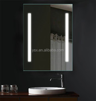 Modern Cheap price hotel Illuminated bath mirror with Infra-Red Sensor switch /touch switch/ fog free/ waterproof