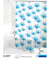 Promotional latest design PEVA printing shower curtain