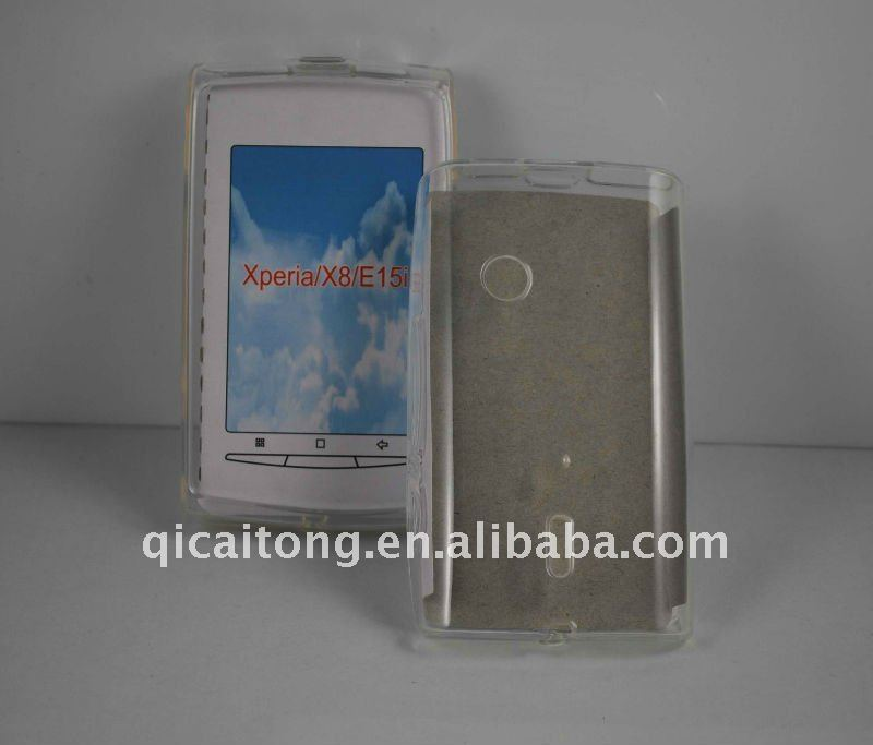 TPU case without texture for sony ericsson X8 E15i