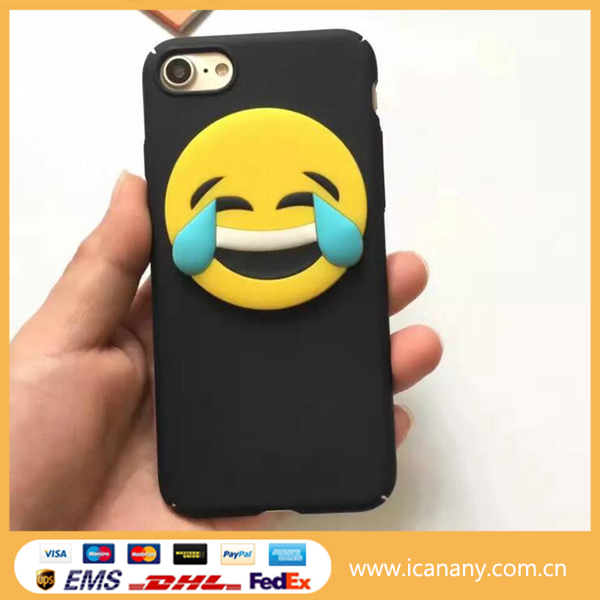 Cute Funny emoji phone Case For iPhone 5 5s 6 6s 6/s plus Clear Silicone Cellphone Cases Cover Facial