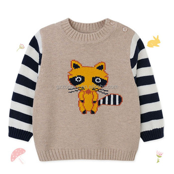 Tiger pattern Splicing long sleeve kids sweatershirt