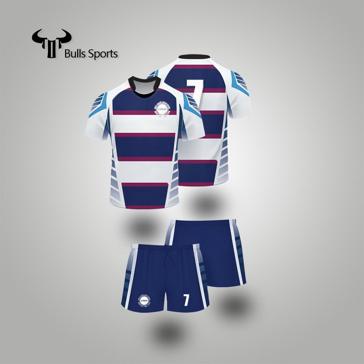 Made in china competitive italy rugby football jersey custom