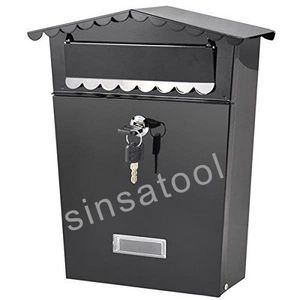 Lockable Outside Wall Mounted Metal Mailbox/Letterbox/Postbox