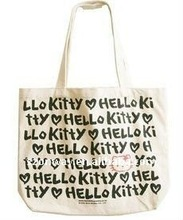 printed character canvas shopping bag