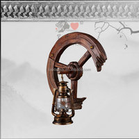 Antique brass wrought iron wall sconces