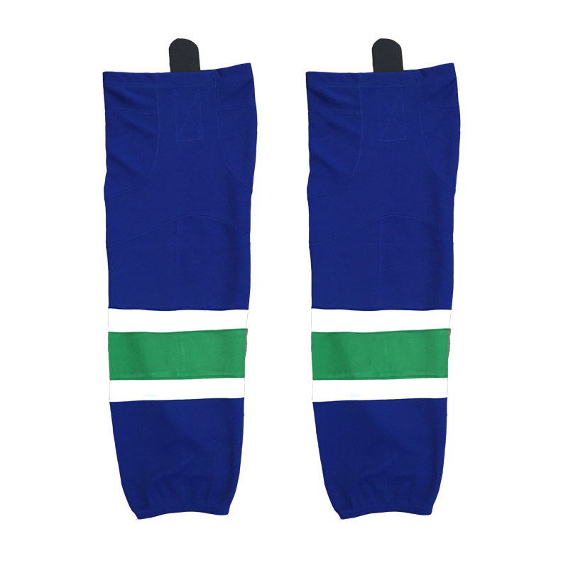3% discount 2016 Hot sale blue color Canucks pro ice hockey socks