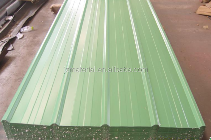 lightweight pre galvanized iron roofing sheet specification/wall and roof design YX18-76-836/988 round wave prepaited corrugated