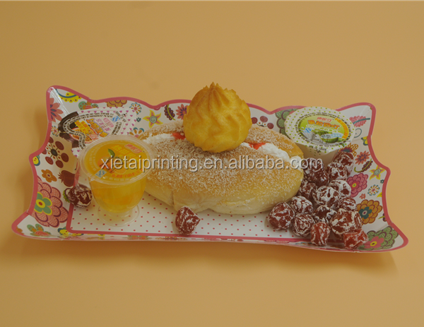 custom make disposable wedding paper cake tray fruit tray food trays