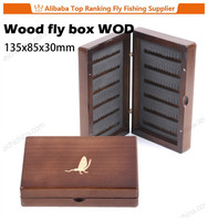 New fishing wholesale wooden fly box