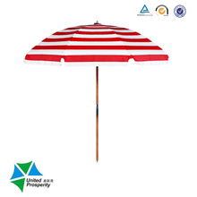 Manual open Beach Promotion Outdoor solar beach umbrella