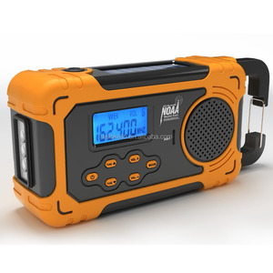 Multifunctional Solar Cranking AM/FM/NOAA Weather Band Radio Flashlight with Mobile Phone Charger
